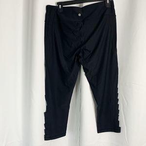 90 Degree By Reflex Pants - 90 degrees by reflex side slit capris XL black